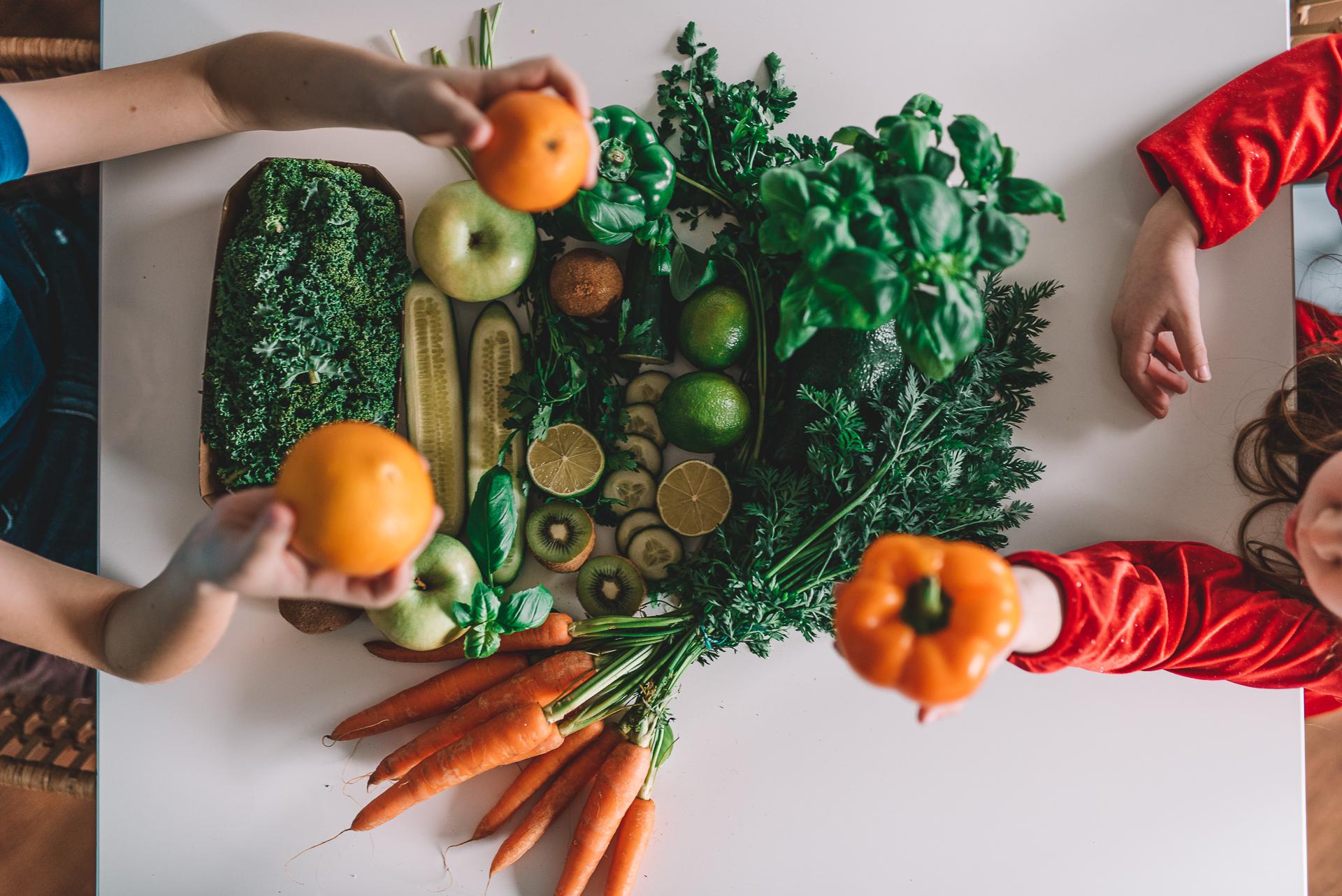 zielone warzywa dla dzieci